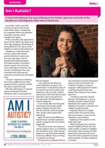 Lydia Andal Interview with Ability NI Magazine December 2015